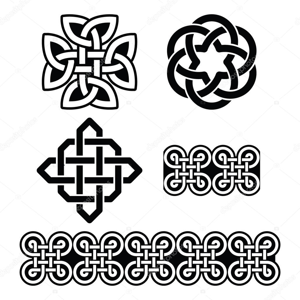 Celtic irish patterns and knots vector st patricks day stock celtic irish patterns and knots vector st patricks day stock vector buycottarizona Image collections