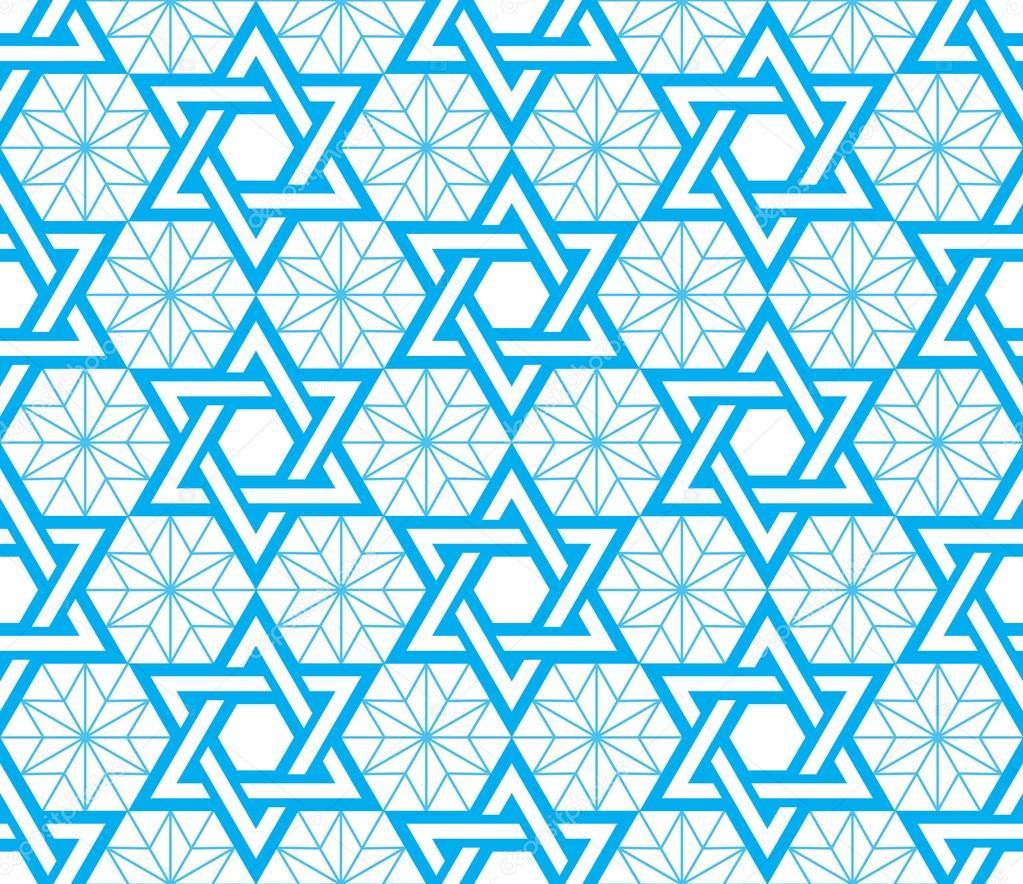 Jewish star of david blue seamless pattern stock vector judaic jewish religious symbol david star vector background vector by redkoala biocorpaavc Choice Image