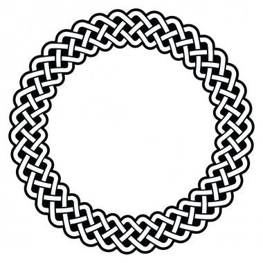 Celtic round frame, border pattern - vector