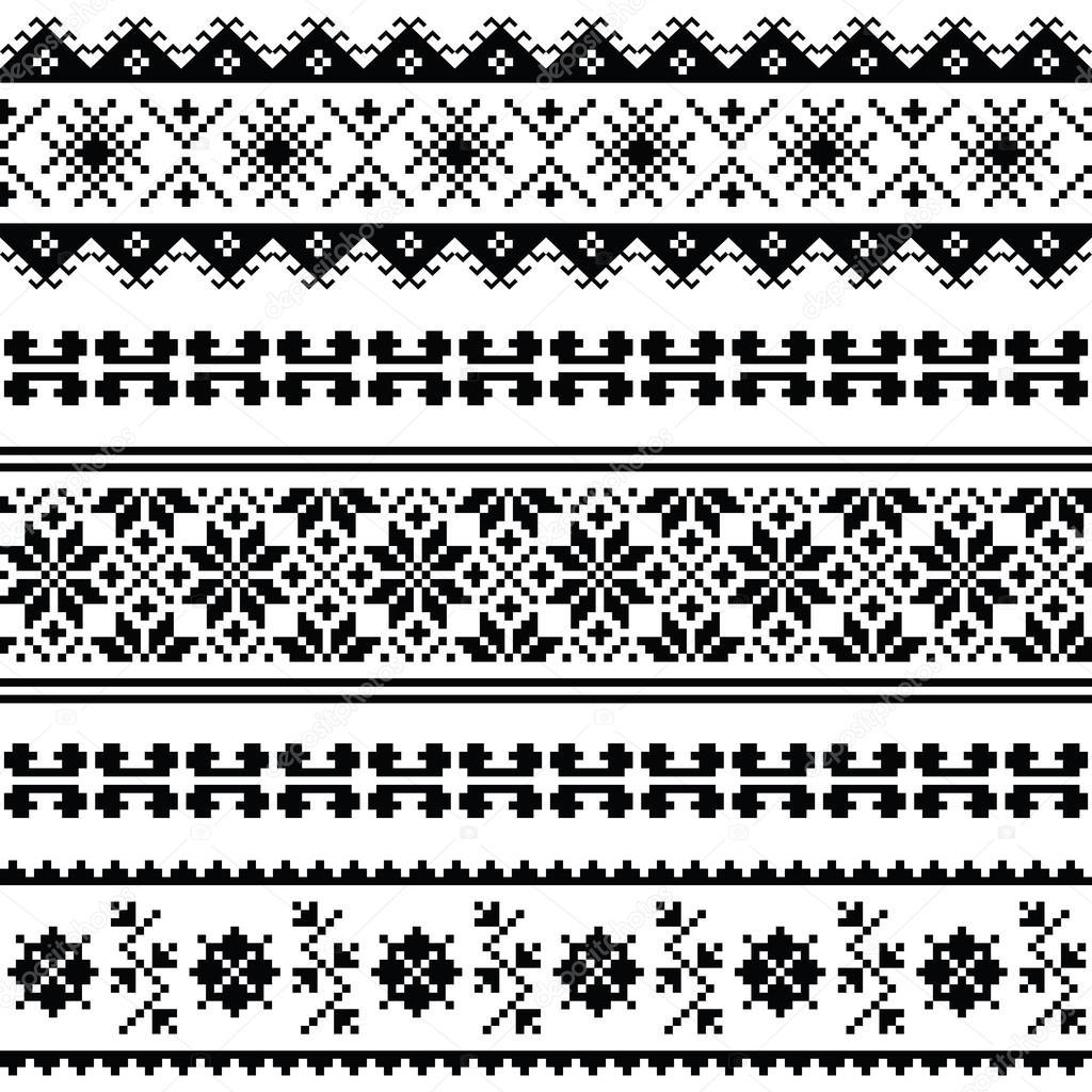 Ucraniano, bielorruso arte popular patrón de bordado o impresión en ...