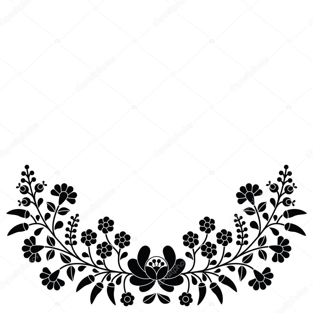 Patrón popular floral Húngaro — Archivo Imágenes Vectoriales ...