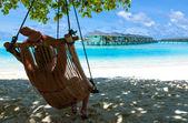 Photo relaxation on paradise Caribbean
