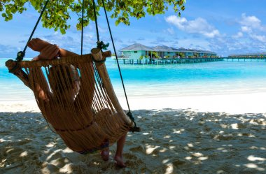 relaxation on paradise Caribbean