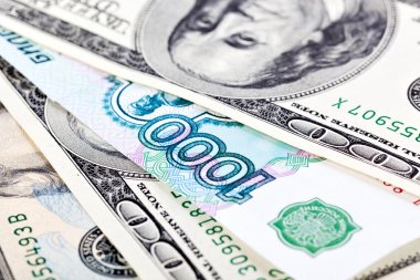 dollar and ruble