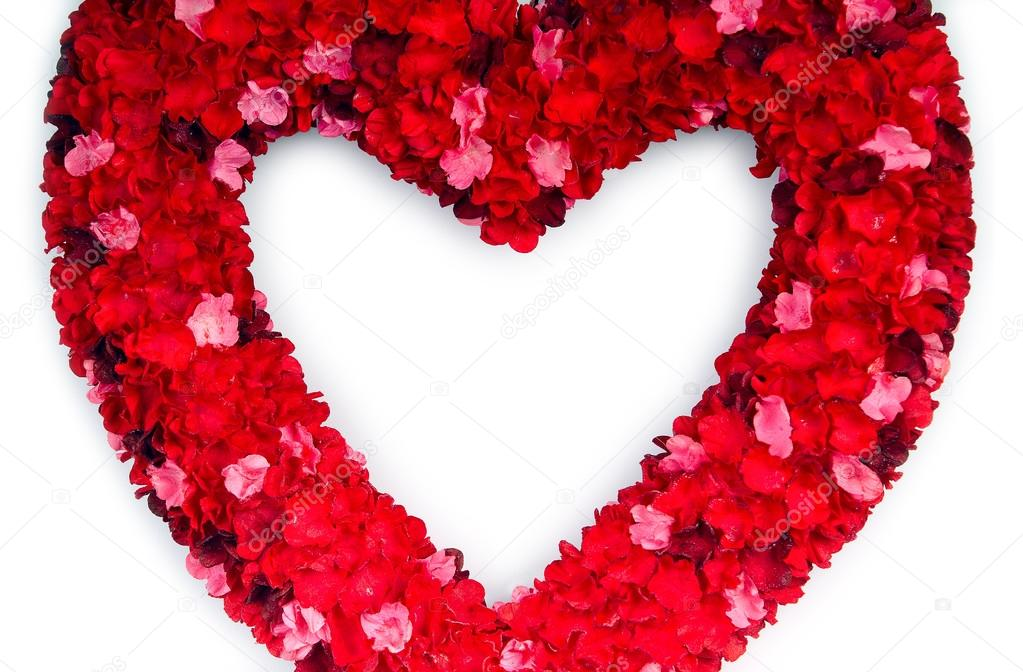 Bouquet de fleurs rouges en forme de coeur photo 53601881 - Fleurs en forme de coeur ...