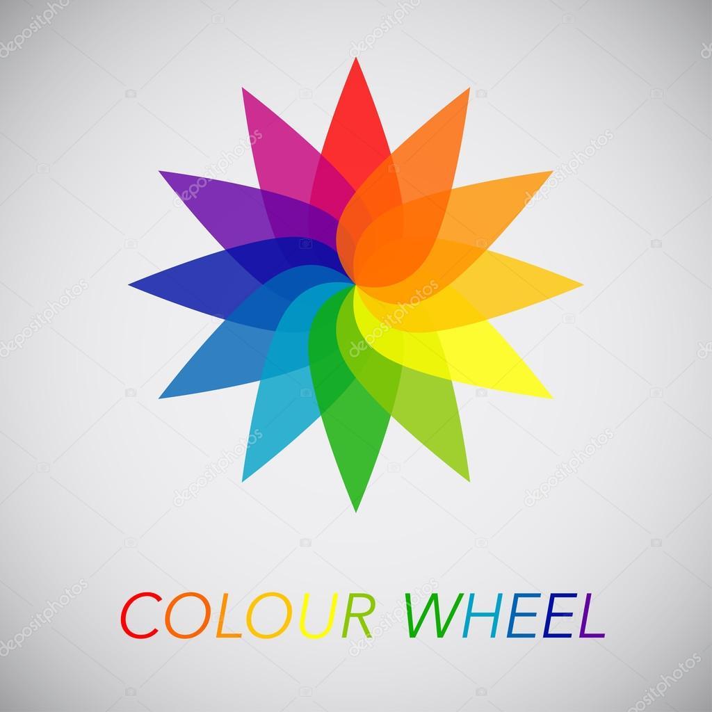 Flower Color Wheel Stock Vector