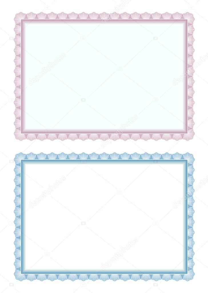 Certificate Border Template Frame Stock Vector Robisklp 118381466
