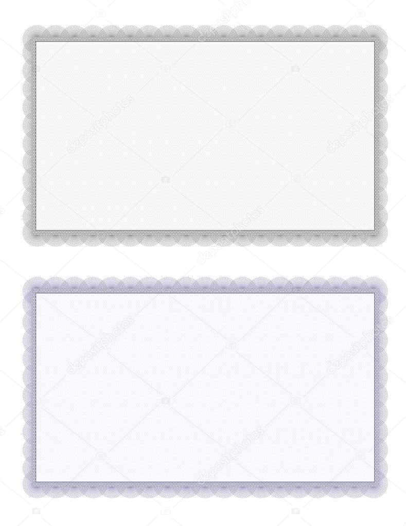 certificate border template frame on a white vector by robisklp