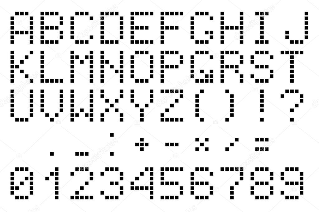 Black pixel alphabet — Stock Vector © robisklp #118382908