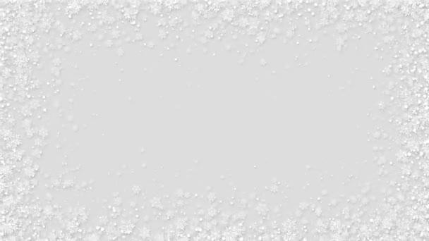 Flat Style karácsonyi hópehely háttér hurok animáció