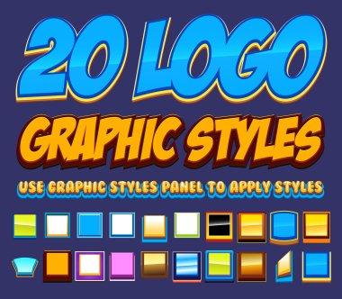20 Comic Logo Graphics Styles