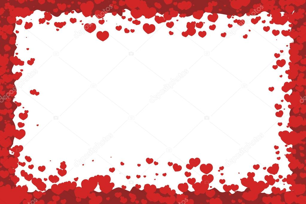 Valentine\'s Day Vector Frame — Stock Vector © robisklp #63320455