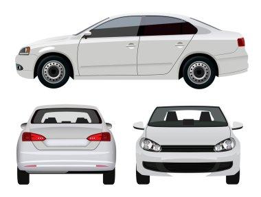 White Sedan Car