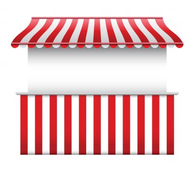Store Exterior with striped Awning