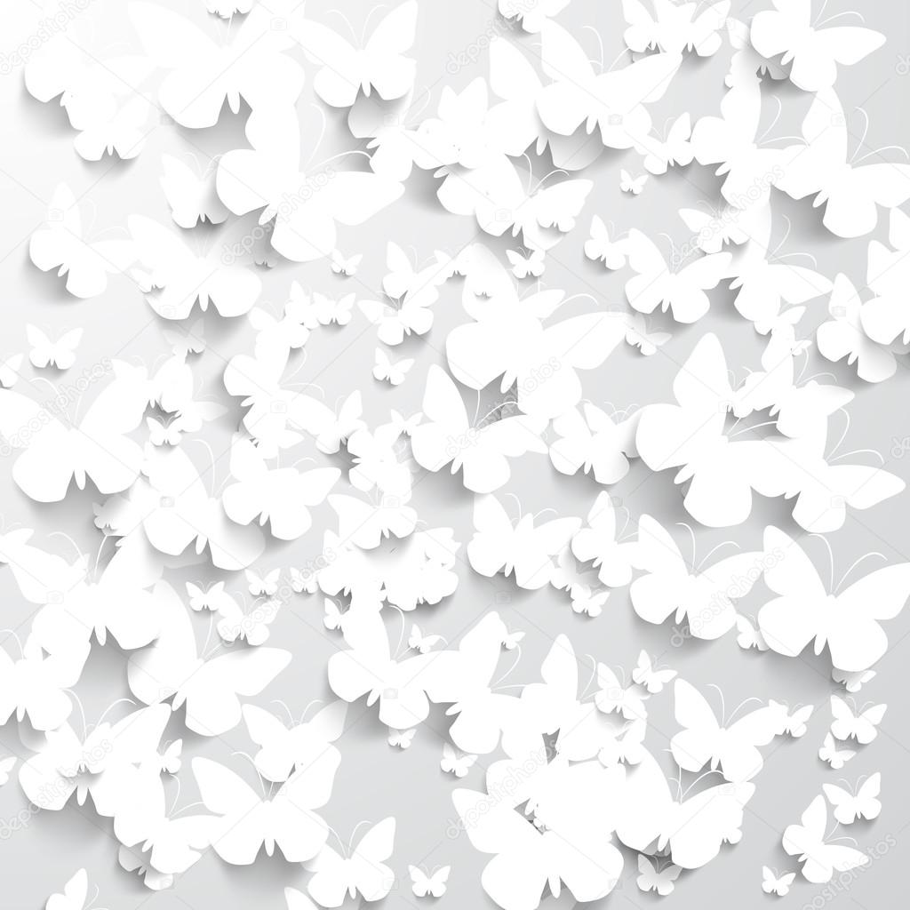 white paper butterflies stock vector robisklp 68372091