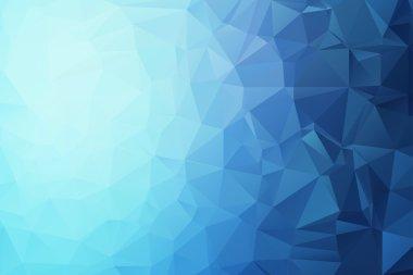 Blue Triangular Background
