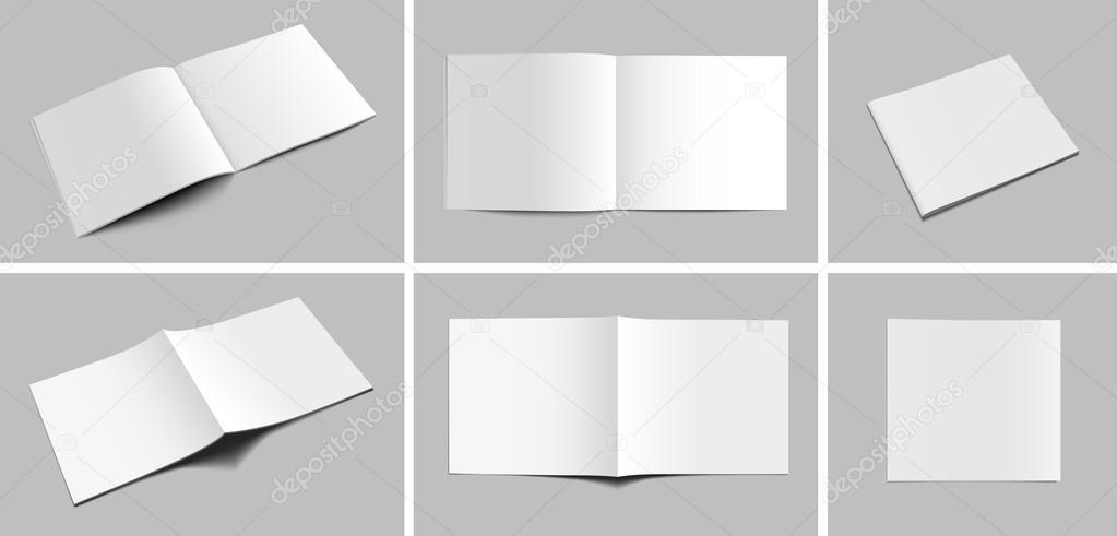 Booklet catalog magazine mockup stock vector