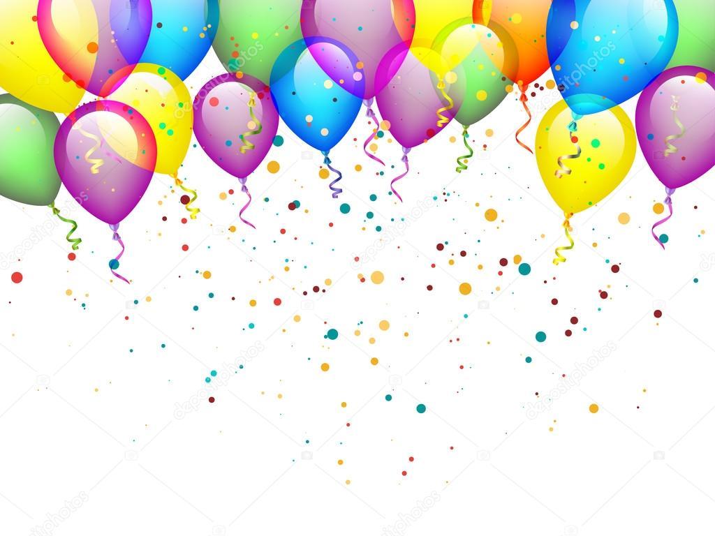 Bunte Geburtstag Ballons Stockvektor C Robisklp 85780822