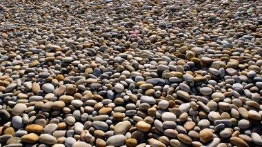 Beach rolling stones