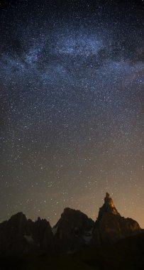 Milky Way over Pale di San Martino