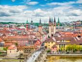 historische Stadt Würzburg, Franken, Bayern, Deutschland