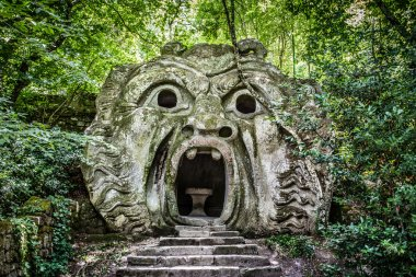 Parco dei Mostri (Park of the Monsters) in Bomarzo, province of Viterbo, Lazio, Italy