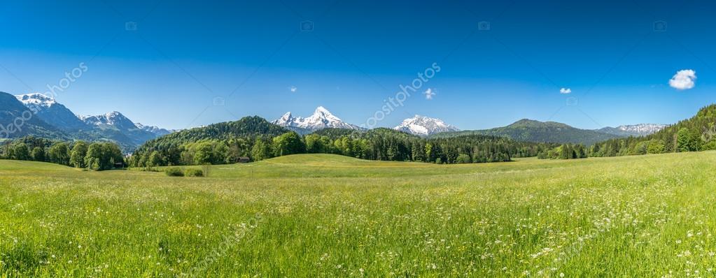 Idyllic landscape in the Bavarian Alps, Berchtesgaden, Germany