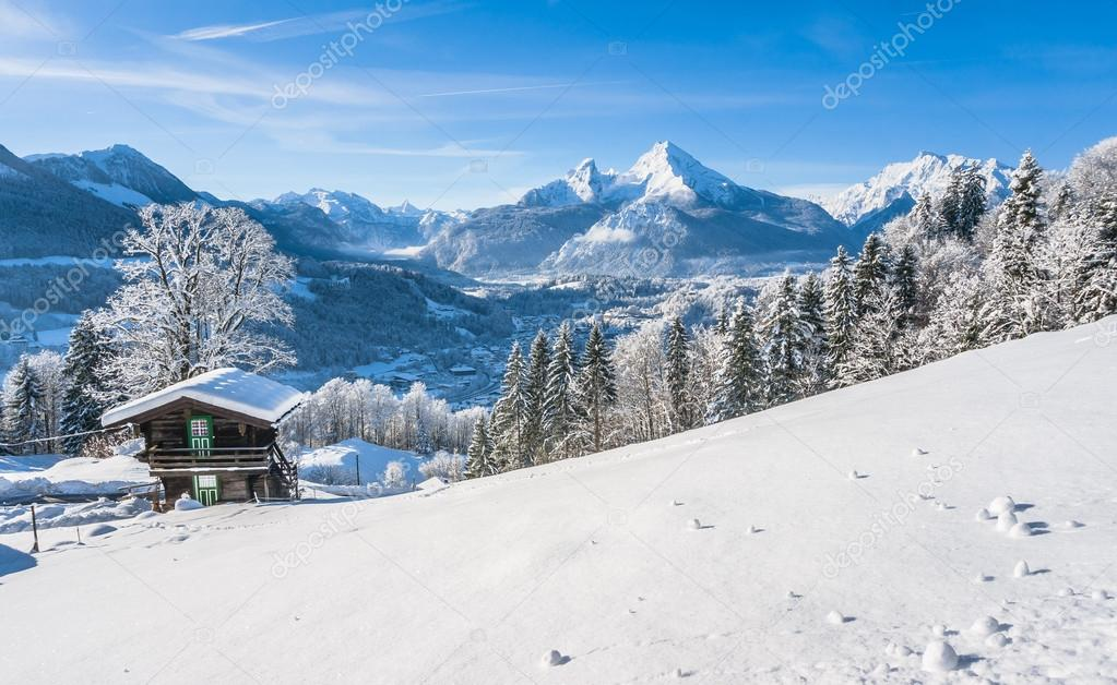 Idyllic landscape in the Bavarian Alps, Berchtesgaden, Germany