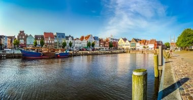 Town of Husum, Nordfriesland, Schleswig-Holstein, Germany