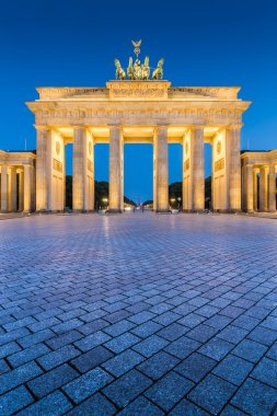 Berlin Brandenburg Gate at night, Germany