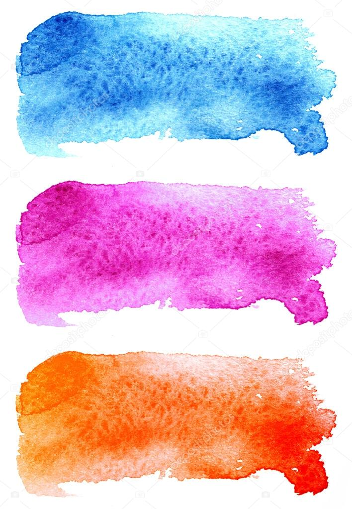Scanned watercolor stains, texture — Stock Photo © Chevnenko
