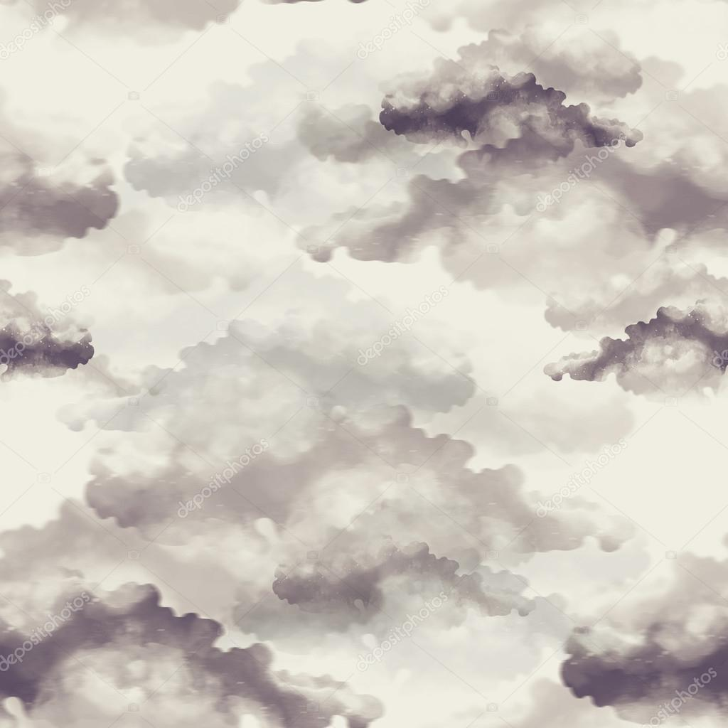 imprints clouds. seamless pattern