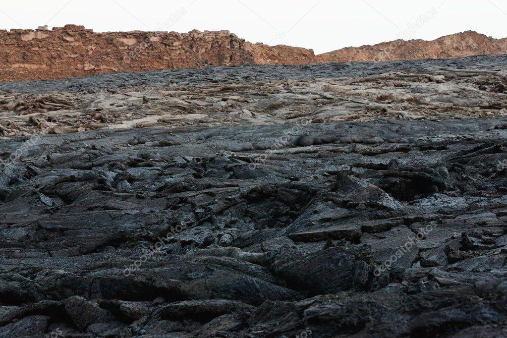 Solid lava field-Erta Ale volcano caldera. Danakil-Ethiopia. 0241