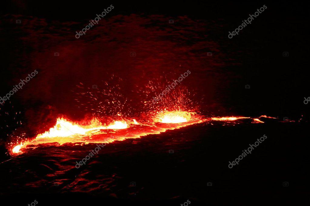 Burning lava lake in the Erta Ale volcano-Danakil-Ethiopia. 0204