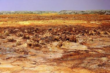 Dallol mountain rising 50-60 ms.over the salt flats. Danakil-Ethiopia. 0328