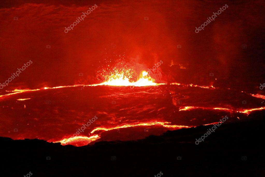 Burning lava lake in the Erta Ale volcano-Danakil-Ethiopia. 0236