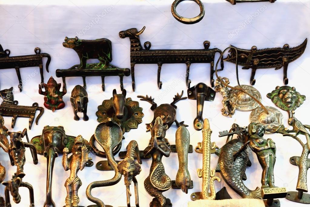 Nepali Handicrafts For Sale Pokhara Nepal 0678 Stock Photo