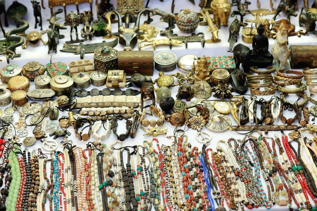 Nepali Handicrafts For Sale Pokhara Nepal 0677 Stock Photo