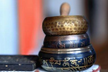 Nepalese singing bowls. Pokhara-Nepal. 0760