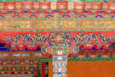 Polychrome wooden doorway. Norbulingka palace-Lhasa-Tibet. 1260