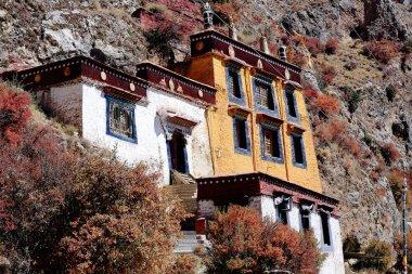 Main group of buildings-Drak Yerpa monastery. Lhasa pref.-Tibet. 1514