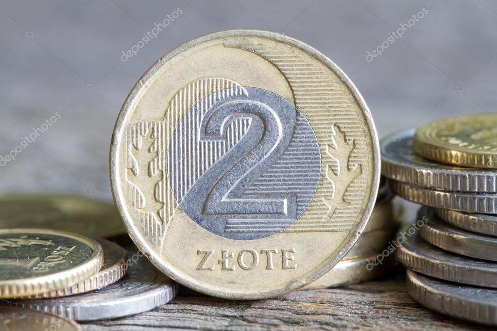 Polnische Geld Münzen Makro Nahaufnahme Stockfoto Udra 111072220