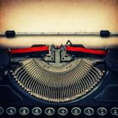 Antique mechanical typewriter.