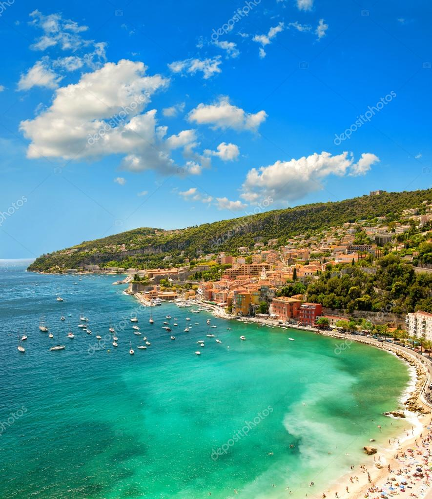 Mediterranean sea. French riviera, France. Blue sky