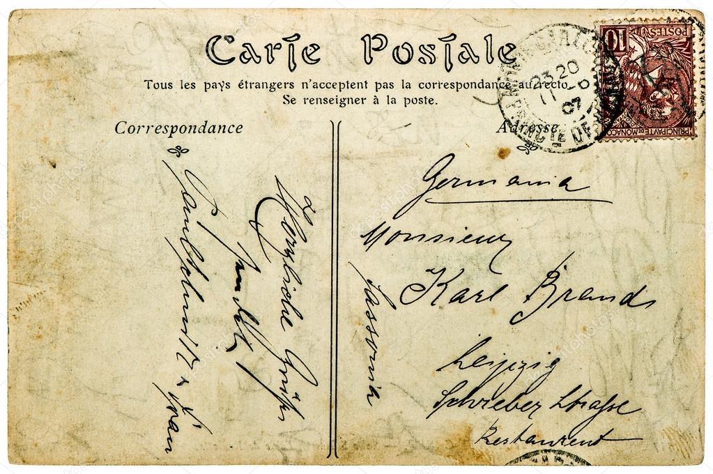 vintage handwritten postcard letter used paper texture backgroun