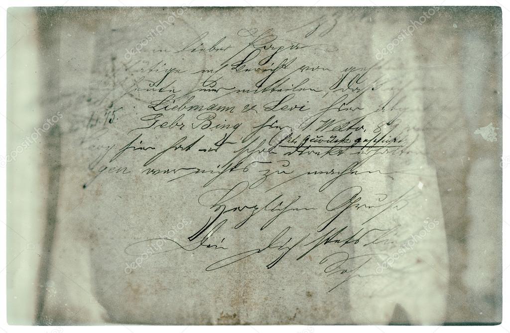 Carta vieja con texto escrito a mano fondo de papel for Fondos de escrito
