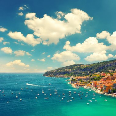 View of Villefranche by Nice, french riviera