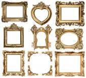 arany kereteket. a barokk stílusú antik tárgyak