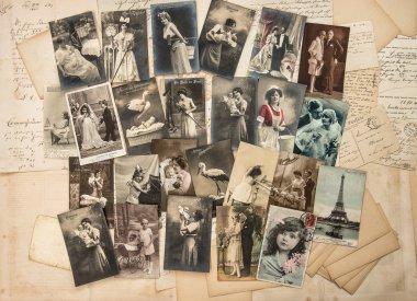 Vintage greetings postcards