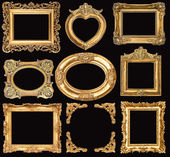 Fotografie Set of golden frames